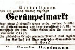 Grepelesmarkt Zeitungsanzeige