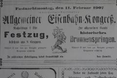 Erwähnenswert ist auch die Fasnet 1914. Ein halbes Jahr vor Ausbruch des Ersten Weltkriegs gibt es mit einer Zirkusaufführung durch den Turnverein wieder einen Höhepunkt.